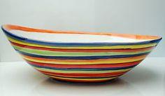 Mediterranes Geschirr ° Riesige Ovale Schale 40 CM ° Bunt ° Bassano Keramik °   eBay