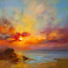 Hot Dusk by Kasia Bruniany, Oil on Canvas Watercolor Landscape Paintings, Sky Painting, Landscape Artwork, Abstract Landscape, Watercolor Art, Abstract Nature, Fine Art America, Canvas Art, Art Prints