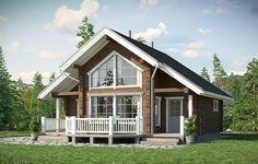 24 ft x 28 ft sq ft Log Cabin Kit 2 Story 3 Bed Wooden Guest House / Home Villa Design, Cabin Design, Rest House, House In The Woods, My House, Style At Home, 2 Story House Design, Montana Homes, Farmhouse Floor Plans