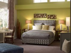 Chevron - covered base (or box spring). Contemporary Bedrooms from HGTV HOME on HGTV