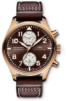 Discover a large selection of IWC Pilot Chronograph watches on - the worldwide marketplace for luxury watches. Compare all IWC Pilot Chronograph watches ✓ Buy safely & securely ✓ Iwc Watches, Cool Watches, Watches For Men, Analog Watches, Wrist Watches, Iwc Pilot Chronograph, International Watch Company, Mens Rose Gold Watch, Swiss Luxury Watches