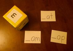 Easily make a cube for many reading games in the kindergarten classroom.  Instructions, cards and game ideas. $