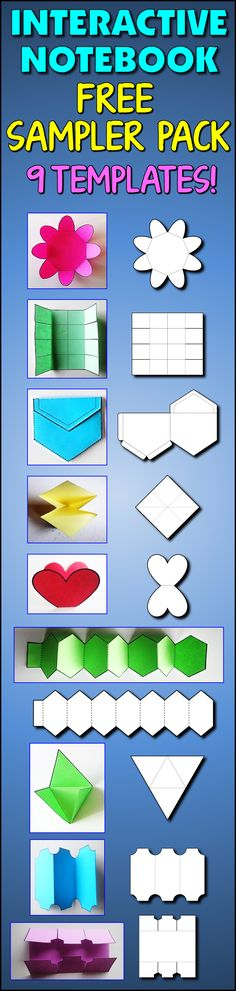 "FREE INB Templates - Comments:  ""Wow, super cute and fun for the kids - thanks!"", ""Great foldables for interactive notebooks! Thank you!"", ""These will be a fantastic addition to our interactive notebooks next year! On colored paper they will really stand out."", ""Very cute, and different from the other foldables and interactive notebook pages out there!""  Check it out!"