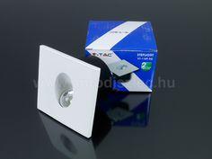 V-TAC Lépcsőbe építhető LED lámpa 3 Watt - négyzet -meleg f. - Utolsó!