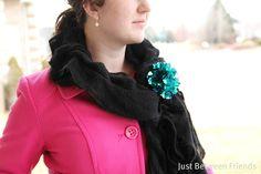 DIY sequin flower brooch #tutorial from Just Between Friends