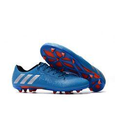 reputable site fe1ab 18cc6 Adidas Messi 16.3 FG TERRENO FIRME Botas De Fútbol Azul Naranja