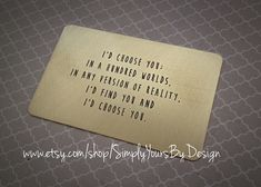 Custom Metal Wallet Card - Personalized Wallet Insert - Wallet Card - Love Note - Men's Anniversary - Husband Gift - Anniversary for Him https://www.etsy.com/listing/173019327/custom-metal-wallet-card-personalized?ref=shop_home_active_1