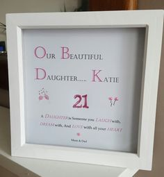 Personalised Wooden Box Frame for 21st Birthday 30..40..50 etc £9.99