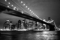 B&W of Brooklyn Bridge & Lower Manhattan Skyline, New York City | Flickr - Photo Sharing!