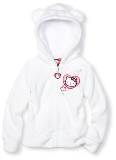 Hello Kitty Toddler Girls Plush Hoodie
