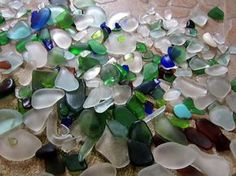 How to polish sea glass: Vegetable oil and an old rag is all you need!