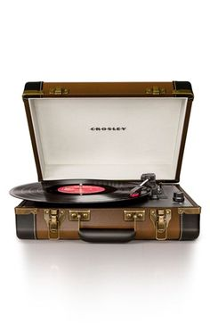 Crosley Radio 'Executive' USB Turntable available at #Nordstrom - Convert from vinyl to USB'd formats! What an invention!!