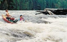 """#canoelove entry Nancy Chapman. #rapids #canoe See the newest exhibition at The Canadian Canoe Museum: """"The story of paddling and romance. Can I canoe you up the river?"""""""
