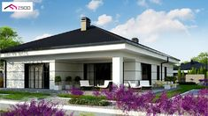 Bungalow House Design, Small House Design, Dream Home Design, Home Design Plans, Modern Family House, Modern House Plans, Modern Architecture House, Architecture Design, Exterior Wall Tiles