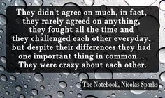 Nicolas Sparks.....my fav quote