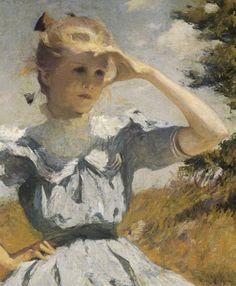 Frank W. Benson, Eleanor, 1901. Oil on canvas, 76.2 x 64.1 cm. Museum of Art, Rhode Island School of Design, Providence, Gift of the Estate of Mrs. Gustav Radeke, 31.079, © Museum of Art, Rhode Island School of Design / Photo: E. Gould