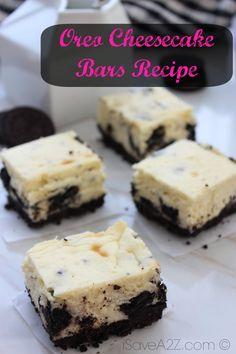Oreo Cheesecake Bars - iSaveA2Z.com