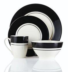 Black bands dinnerware