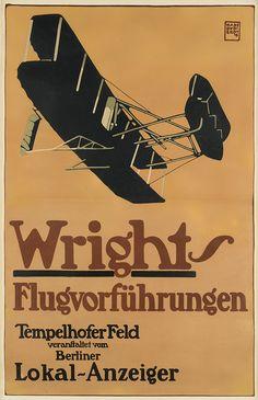 Sale 2326 Lot 68, Swann Galleries HANS RUDI ERDT (1883-1918) WRIGHTS / FLUGVORFÜHRUNGEN. 1909. Estimate $12,000 - 18,000