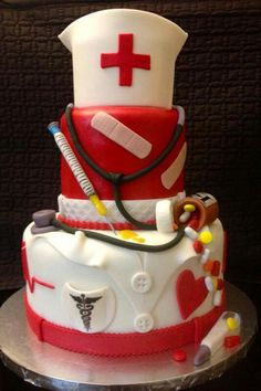 Cake Nurse practitioner graduation party