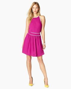 La Brea Halter Dress in magenta. Love this dress and it's pink, which is even better ♥