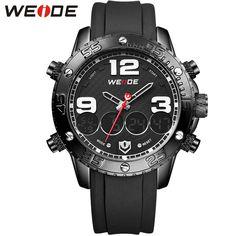 Brand WEIDE Quartz-watch Men Wristwatch Relogio Masculino Erkek Kol Saati Bezel White Sports Fashion Casual Analog Digital-watch | Price: US $27.03 | http://www.bestali.com/goto/32266680556/10