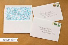 DIY Tutorial: Rubber Stamp Pattern Envelope Liners