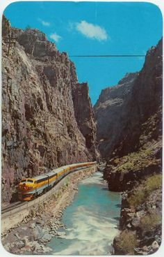 Undated Unused Postcard Streamline Train Royal Gorge Canon City Colorado CO Le Colorado, Colorado Springs, Train Rides In Colorado, Canon City Colorado, Colorado River Rafting, Colorado Mountains, Oh The Places You'll Go, Places To Travel, Places To Visit