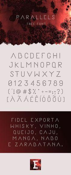 PARALLELS free font par Elder Marques | 21