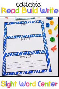 Kindergarten Calendar Board, Kindergarten Centers, Kindergarten Learning, Kindergarten Morning Work, Sight Word Centers, Sight Word Games, Sight Word Activities, Sight Words, 1st Grade Activities