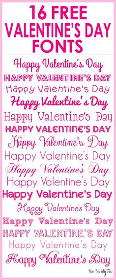 Free Valentine's Day Fonts!