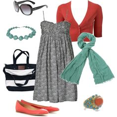 cute! I am not much of an accessory person other than scarfs but this website has some good ideas and combinations!