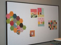 Make a simple design wall. I\'ve used foam board from the office ...