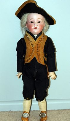 Nippon doll by Cat Gabriel, via Flickr   ~the little Mr. on his own~