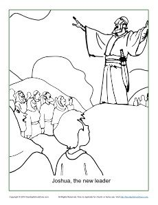 joshua and caleb bible coloring pages - joshua fought the battle of jericho coloring pages