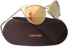 fe80c6511d94e TOM FORD FT0304 Nastasya Sunglasses Shiny Rose Gold w Gold Mirror (28G)  TF304 56mm Authentic Tom Ford  tomford  celebrities  ft0304