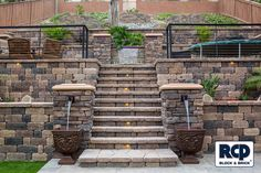 Nice tiered landscape walls using one of RCP's most popular block, Country Manor.