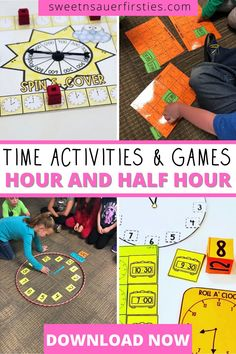 Are you looking for a fun and engaging way for students to practice time to the hour and half hour? Your students will LOVE playing these time games while learning valuable skills! This fun spring themed resource gives you everything you need for a jam packed hands on time unit! Included in this resource you'll find a roll a clock game, spin and cover, multiple build your own clock activities, and of course a cute craft! Students will love telling time with these math games!