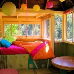 The Rainbow House is a beautiful rental house in Big Sur, California.  The amazing color was designed by the artist, Don Loui.