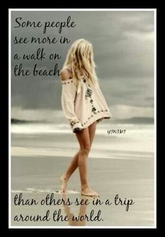 Quote about walking on the beach