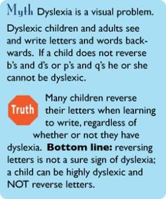 Myths  Truths About Dyslexia * The Yale Center for Dyslexia  Creativity