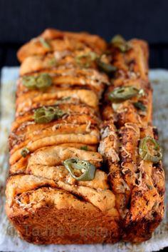 Ancho-Chile Pull-apart Bread with Cheese and Jalapenos
