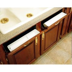 Buy the Rev-A-Shelf White Direct. Shop for the Rev-A-Shelf White 6572 Series 11 Inch Wide Sink Front Tip Out Two Tray Set and save. Kitchen Cabinet Organization, Storage Cabinets, Cabinet Ideas, Kitchen Tray, Kitchen Ideas, Kitchen Redo, Kitchen Drawers, Kitchen Cabinets Under Sink, Wolf Kitchen