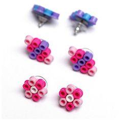 Fun Perler Bead DIY Earrings...so cute for little girls to make!