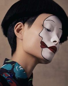 Mime make-up - ideas for makeup for Halloween and .- Pantomime schminken – Ideen für Make-up zu Halloween und Karneval Mime make-up – ideas for makeup for Halloween and carnival - Pantomime, Maquillaje Halloween, Halloween Makeup, Halloween Carnival, Makeup Inspo, Makeup Inspiration, Makeup Ideas, Makeup Tips, Design Inspiration