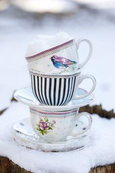 Porcelain in snow by Lisbeth Dahl Copenhagen Autumn/Winter 13. #LisbethDahlCph #Porcelain #Snow