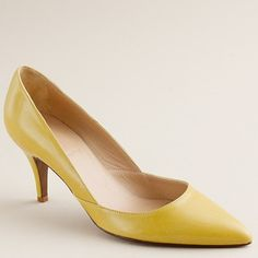 """So ... yeah this shoe is called the """"Valentina Pump"""". I knew J.Crew and I were meant to be <3 - I think like it best in yellow!"""