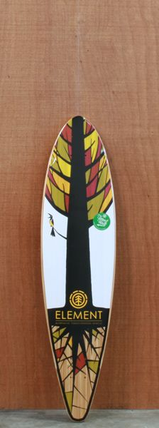 "Element 34.5"" Bamboo Shooter Longboard Deck"
