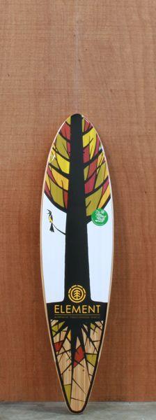 "Element 34.5"" Bamboo Shooter Longboard Deck"