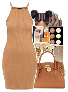 """""""Color Code: Brown (Contest)"""" by uniquee-beauty ❤ liked on Polyvore featuring Kate Spade, Victoria's Secret, adidas and Michael Kors"""